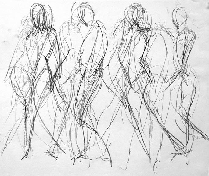 Line Art Movement : Lesson gesture drawing precision art